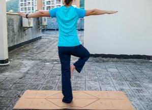 亲近自然的瑜伽垫,云麦软木瑜伽垫